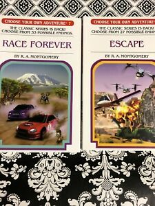 Choose Your Own Adventure 2016 Editions Race Forever #7 & Escape #8