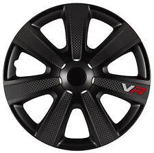 4x Radkappen 13 Zoll VR Black Pro Carbon Radzierblenden Universal TOP PREIS