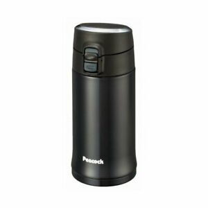 Peacock Stainless Bottle Compact Mug 0.35L AML-35-B Black From Japan