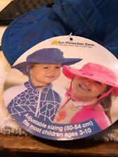 2 Kids Uv Protection Beach Hat (Blue)