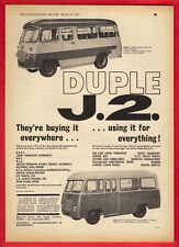 Old Bus Advert - Duple Group - Bedford J2: Luxury Coach or Service Bus - 1965