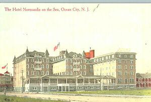 VIntage Postcard-The Hotel Nromandie on the Sea, Ocean CIty, NJ
