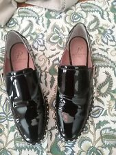 RARE ADRIANNA PAPELL PIERCE STUDDED BLACK PATENT LEATHER BUCKLE LOAFERS SZ 7