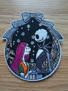 Nightmare Before Christmas Iron On Patch Embroidered Badge | Skeleton
