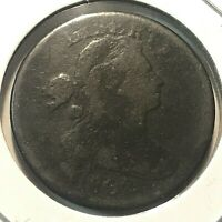 1802 DRAPED BUST LARGE CENT BETTER GRADE SCARCE COIN