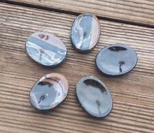NATURAL BLUE TIGER EYE GEMSTONE WORRY STONE (ONE)
