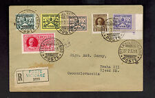 1930 Vatican Registered cover toCzechoslovakia # E1 Express Mail