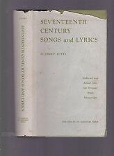 Seventeenth Century Songs and Lyrics (over 400 of them), ed. John P. Cutts 1959