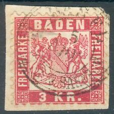 Baden, Kl. Briefstück Mi.-Nr.24o, Basel Bahnpost, geprüft Flemming BPP