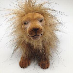 Flocked Bobble Head Lion King of Jungle Mane Auto Car Dashboard Adhesive Dash B