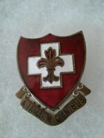 Authentic WWII US Army 135th Medical Regiment DI DUI Unit Crest Insignia
