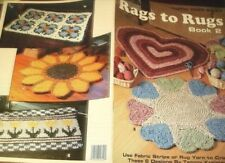 Crochet rag rug patterns Rags to Rugs book #2: LA2820 heart sunflower tulips +