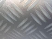 PVC (7€/m²) CV Bodenbelag Riffel Blech grau 200 cm 2 Meter NP17 Boden silber