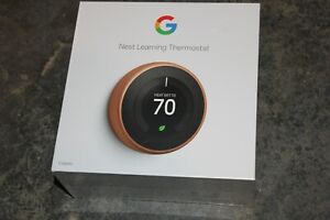 NEW SEALED *GOOGLE* NEST Learning Thermostat Copper T3021US