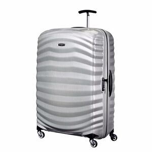 """NEW Samsonite Lite Shock 30"""" SILVER Carry on Luggage 4-wheeled 80317-1776"""