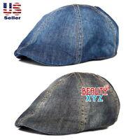 NEW Denim Jean 100% Cotton Gatsby Cap Unisex Newsboy Ivy Hat Summer Golf Hat #4