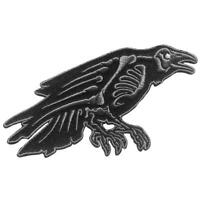 Raven Skeleton Patch Iron On Horror Movie Goth Edgar Allan Poe Collectible Gift