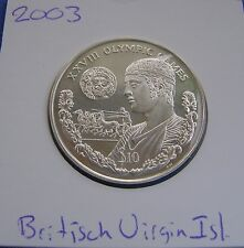 British Virgin Islands - 10 Dollars 2003 XXVIII OLYMPIC GAMES - km# 254 - PR/XF