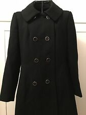 Vintage Women's Wool Coat Black USA union made Small Size 4/6