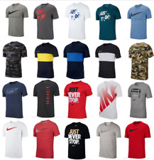 Nike T Shirts Mens Small to 2XL Authentic Dri Fit Short Sleeve Crew Neck Tees