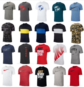 Nike T Shirts Mens Small to 4XL Dri Fit Cotton DFC Short Sleeve Crew Neck Tees