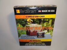 NEW 6 CANS BIRD BRAIN FIREPOT ~ SOLID GEL ~ 3.35 oz. SINGLE USE CANS