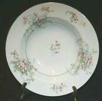 "8"" Rimmed SOUP BOWL Theodore Haviland New York ""Apple Blossom""Fine Vintage China"