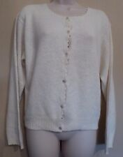 Dorothy Perkins UK16 EU44 US12 new cream silk-blend long-sleeved cardigan