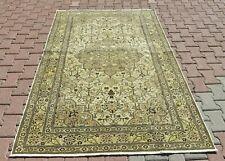 Anatolian High Quality Oriental Wool Carpet Turkish Vintage Beige Area Rug 5x7ft