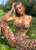 Hot Beauty Nice Blond Baby Girl in Leopard Bodyhouse - Photo 5x7 R