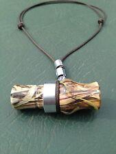 "2.5"" Acrylic Camo Mini Duck / Goose Call Necklace - Mallardtone Style - Working"