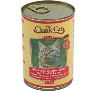Classic Cat Can Sauce With Beef & Liver 12 X 415g (2,79 €/ KG)