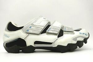 Shimano SH-WM60 White Leather Adjustable 2 Bolt Cycling Shoes Women's 42 / 9.5