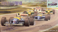 1992c WILLIAMS Cover signed NIGEL MANSELL RENAULT FW14B SILVERSTONE F1