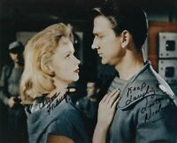ANNE FRANCIS LESLIE NIELSEN SIGNED 8x10 PHOTO FORBIDDEN PLANET RARE BECKETT BAS