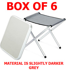 SPECIAL OFFER BOX OF 6 Wilron Folding Camping Aluminium lightweight Stool/Table