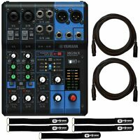 Yamaha MG06X 6-Channel Compact SPX Digital Effects Mixer w/ 20' XLR Cables