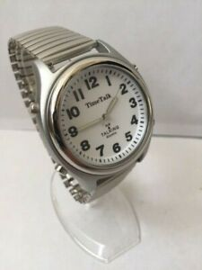 Mens New Time Talk Precision Atomic Radio Controlled Talking Watch For The Blind