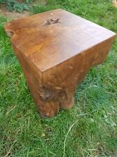 teak root solid wood cube side table lamp table stool root wood coffee table