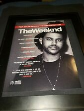 The Weeknd Rare Original Grammy Promo Poster Ad!