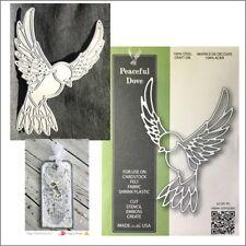 Bird metal die - Peaceful Dove Poppystamps cutting dies 1878 christmas wedding