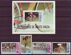 BURKINA FASO 1980;SUMMER OLYMPIC GAMES;COMPL. SET OF 4 & SS; SC # C258-C262;USED