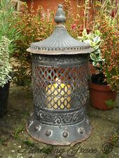 Vintage Style Moroccan Large Garden Lantern Candle Holder Metal Indoor Outdoor