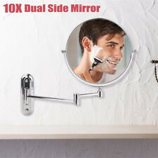 10x Magnifying Wall Mounted Makeup Bathroom  00006000 Mirror Adjustable Height Double-Side