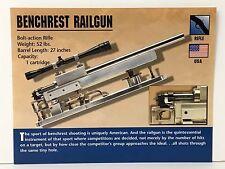 Benchrest Rail Gun Rifle 1 Cartridge Firearm Atlas Photo Spec History Card USA