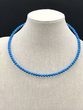 Magnesite & Sterling Silver-Nwt Barse Memory Wire Collar- Cerulean
