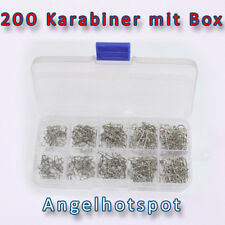 200 Karabiner | mit Box | sortiert | DuoLock Snaps | 12mm - 24mm <| Angelhotspot