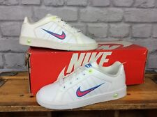 NIKE UK 3 EU 35.5 WHITE COURT TRADITION 2 PLUS TRAINERS CHILDREN GIRLS LADIES