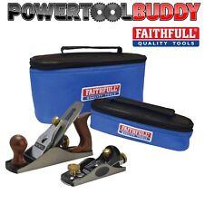 "Faithfull No.4 Bench & 60 1/2"" Block Hand Wood Plane Set + Bag, FAIPLANE4AVB"