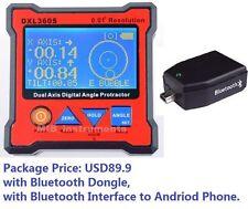 Digital Bevel Box Inclinometer Angle Dual Axes GYRO + GRAVITY + BLUETOOTH 360S